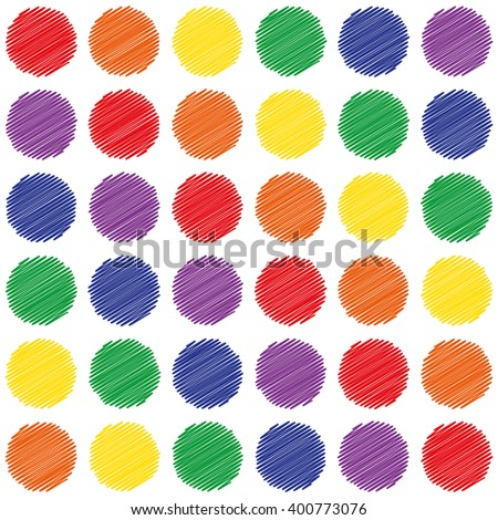 seamless sample - the shaded multicolored circles. vector illustration