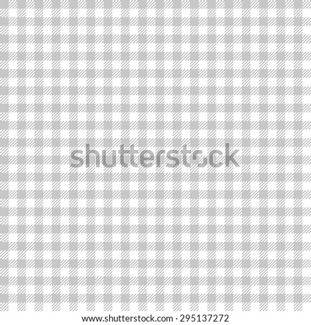 seamless silver colored checkered table cloth background - stock vector