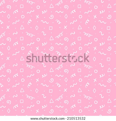 Seamless simple abstract pattern. Doodle hand drawn pattern - stock vector