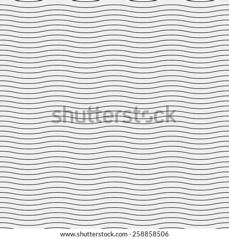 Seamless simple monochrome minimalistic pattern. Modern stylish texture. Wavy lines - stock vector