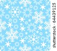 Seamless Snowflake Background - stock vector