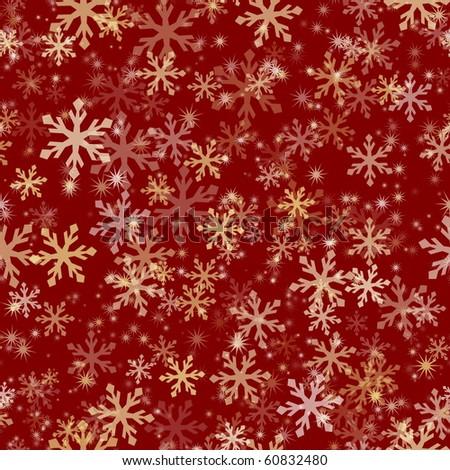 Seamless Snowflake Pattern - stock vector