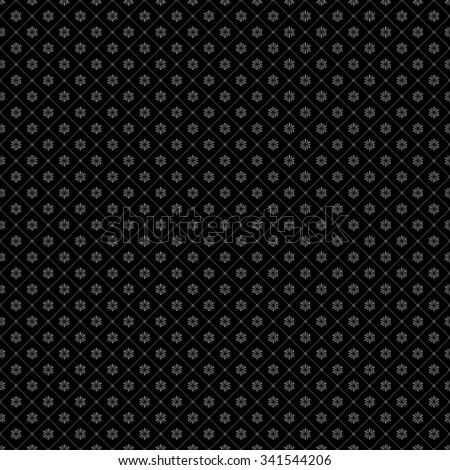 Seamless snowflake vector pattern. - stock vector