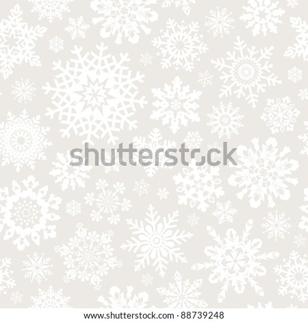 Seamless snowflakes pattern for continuous replicate. See more seamlessly backgrounds in my portfolio. - stock vector