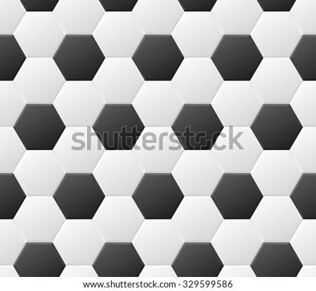 Seamless soccer black and white pattern. Vector eps8 sport background - stock vector