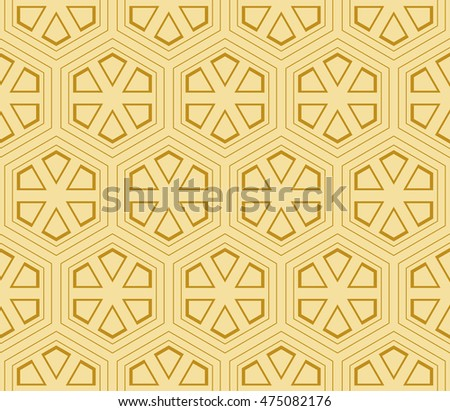 seamless sophisticated geometric pattern based on repetitive simple forms. vector illustration. for interior design, backgrounds, card, textile industry. gold color