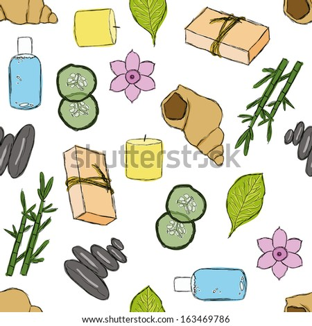 seamless spa pattern - stock vector