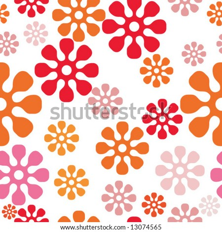Seamless spring funny background - stock vector