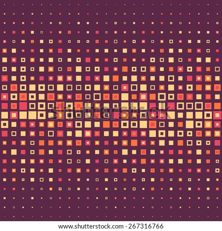 Seamless Square Pattern. Vector Background - stock vector