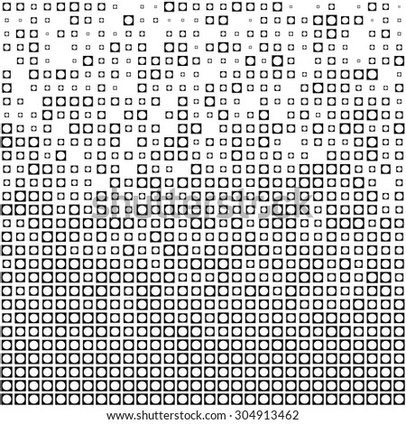 Seamless Square Pattern. Vector Black and White Background - stock vector