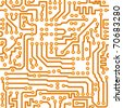Seamless square texture - the vector electronic printed-circuit board - stock photo