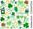 Seamless St.Patrick's day background. vector illustration - stock vector