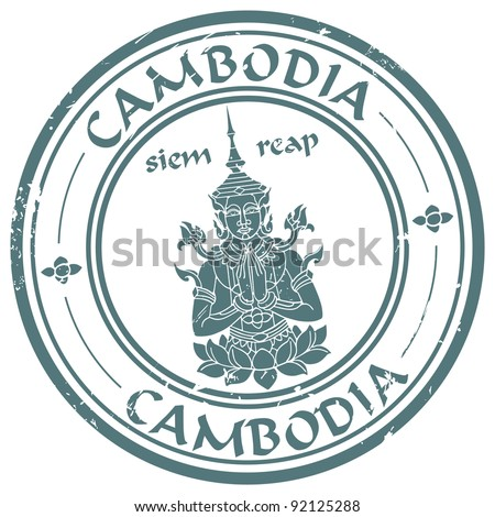 seamless stamp with buddha - stock vector