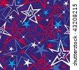 Seamless stars pattern. Vector illustration. - stock vector