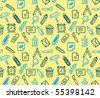 Seamless stationery pattern. Vector illustration. - stock vector