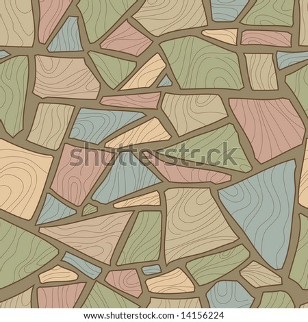 seamless stone pattern - stock vector