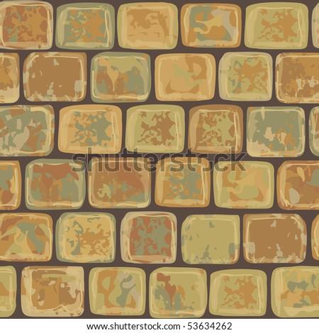Seamless stone pattern - stock vector