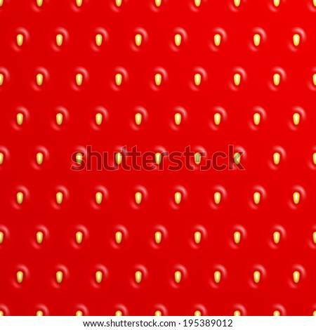 Seamless strawberry texture, Vector background - stock vector