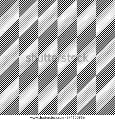 Seamless Stripe and Line Pattern. Vector Black and White Texture - stock vector