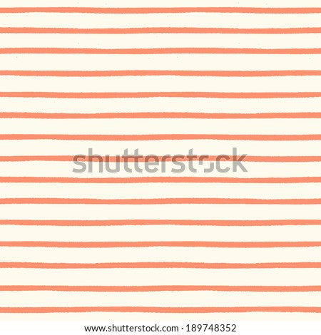Seamless striped pattern with hand painted brush strokes. Vector illustration - stock vector