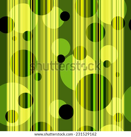 Seamless striped pattern with translucent balls (vector eps 10) - stock vector