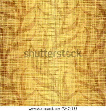Seamless structure a gold fabric with vegetative drawing - stock vector