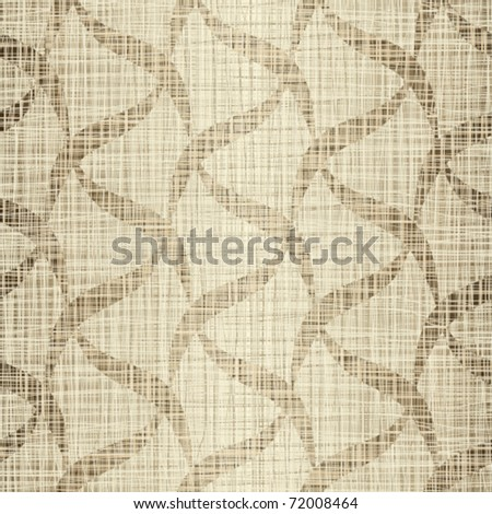 Seamless structure flax with drawing - stock vector