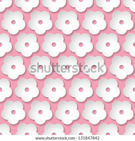 Seamless stylish pink floral texture. Vector illustration - stock vector