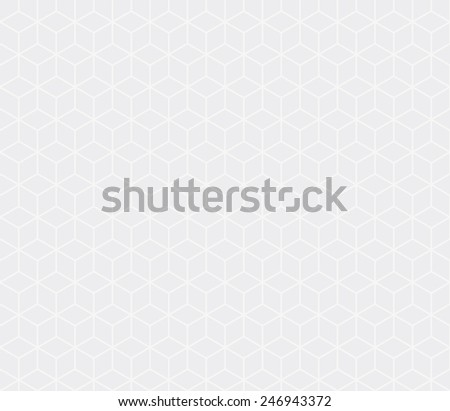 Seamless subtle gray isometric cubes pattern vector - stock vector