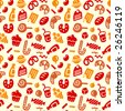 Seamless sweets pattern. - stock vector