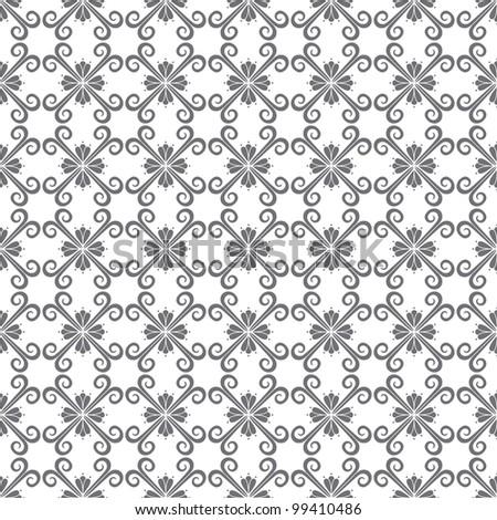 Seamless Swirl Pattern - stock vector