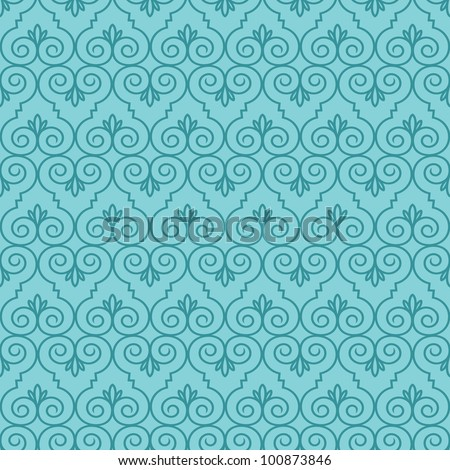 Seamless Swirl Pattern two - stock vector