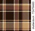Seamless tartan brown abstract pattern - stock vector