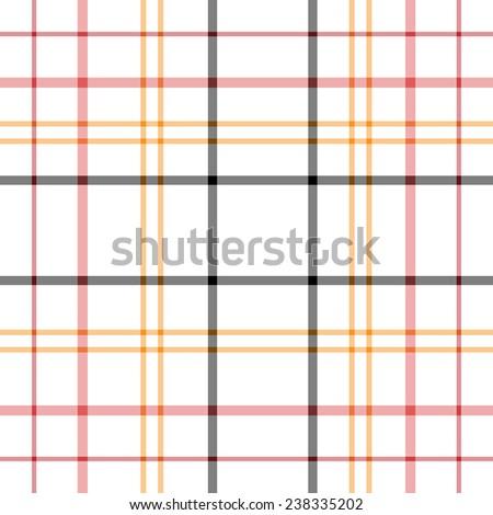 Seamless Tartan Plaid - stock vector
