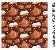 Seamless tea pattern. vector - stock photo