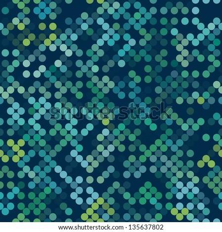 Seamless techno texture. Green dot pattern. Vector background. - stock vector