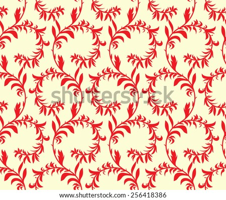 Seamless texture, floral theme. Vector the background.  - stock vector