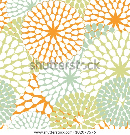 Seamless texture of abstract flowers. Vector illustration. - stock vector