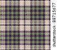 Seamless texture of rough cotton fabric with plaid - stock vector