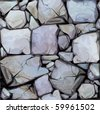Seamless texture of stones in grey colors. - stock photo