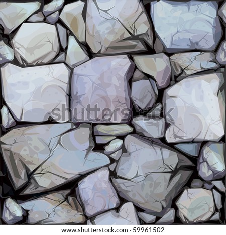Seamless texture of stones in grey colors. - stock vector