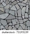 Seamless texture of stonewall  in grey color. - stock photo