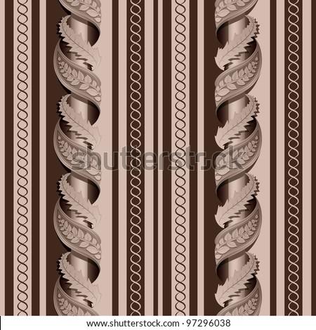 Seamless texture of the column - stock vector