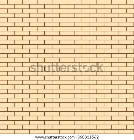 Seamless Texture of the Wall Facing the light Brick. Illustration Building Background. Vector - stock vector