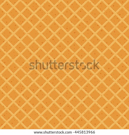 seamless texture of waffles - stock vector