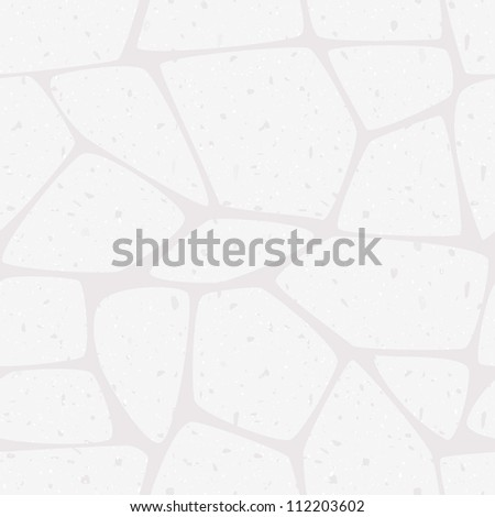 Seamless texture of white stone wall. Vector illustration