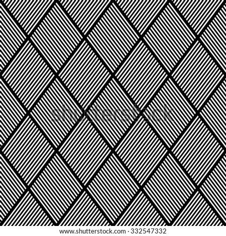 Seamless texture. Pattern of striped diamonds. Vector illustration. - stock vector