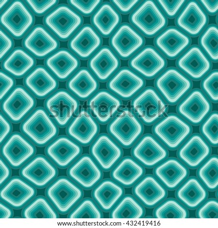 Seamless texture pattern with blue rounded tiles - stock vector