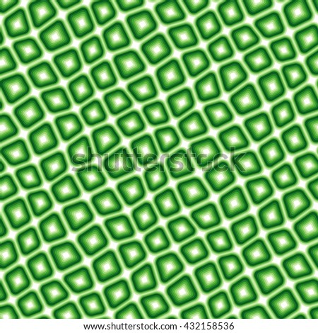 Seamless texture pattern with green rounded tiles - stock vector