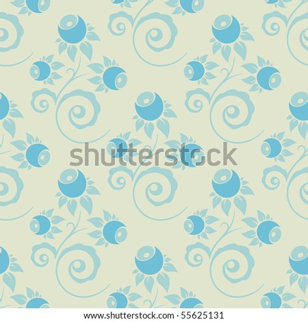 seamless texture, Russian floral vector ornament - stock vector